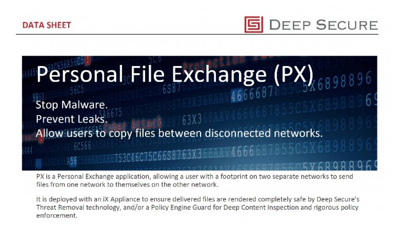 Personal File Exchange (PX)