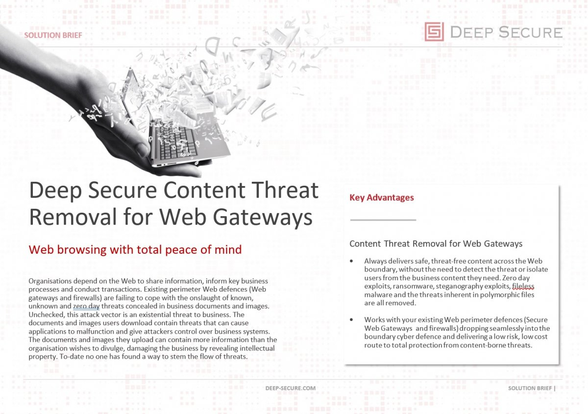 Content Threat Removal for Web Gateways