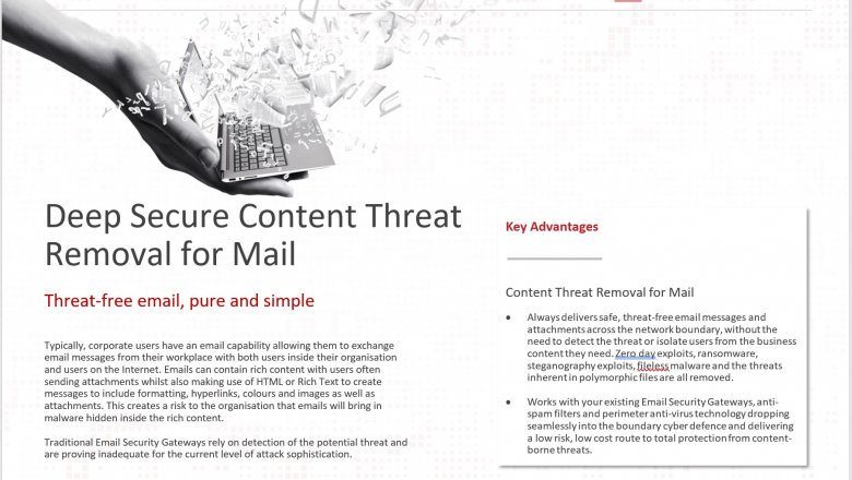 Content Threat Removal for Mail