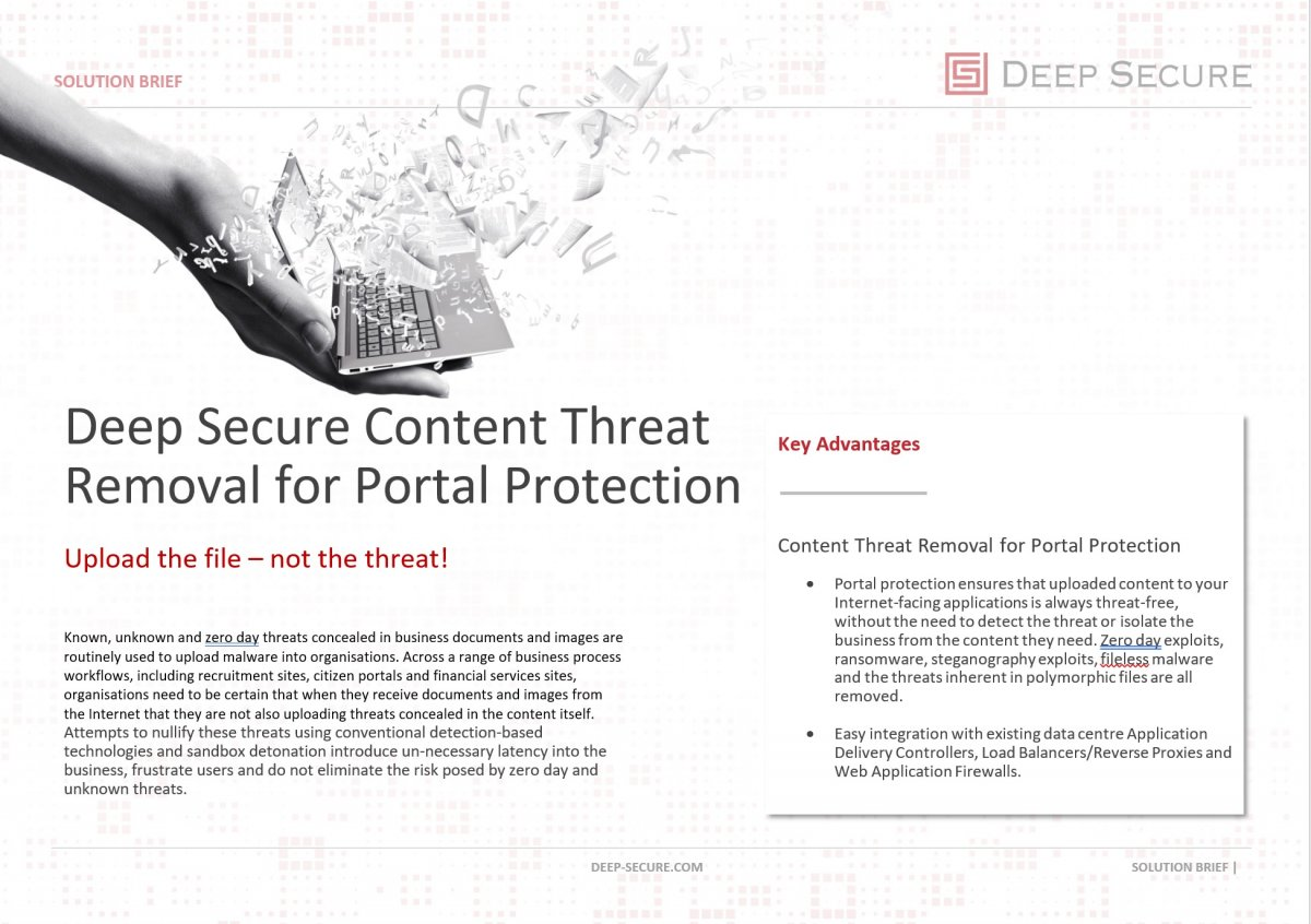 Content Threat Removal for Portal Protection