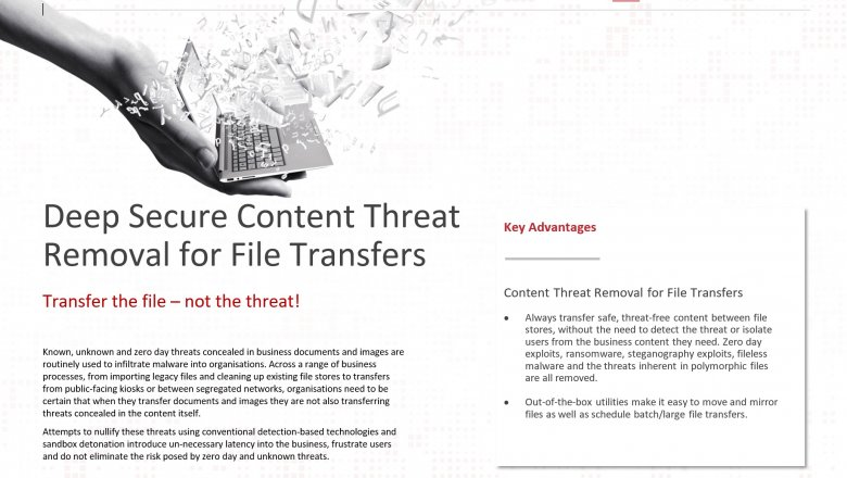 Content Threat Removal for File Transfers