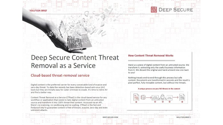 Content Threat Removal as a Service