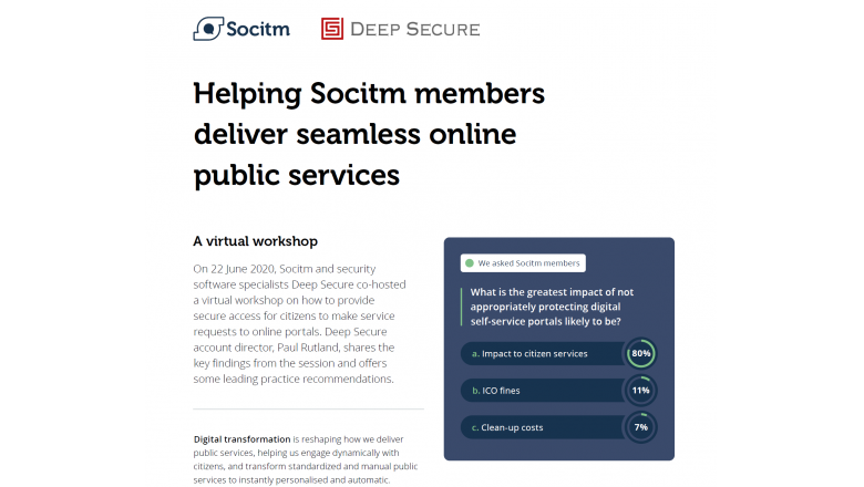 Helping Socitm members deliver seamless online public services